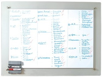 Board writing